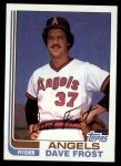 1982 Topps #24  Dave Frost  Front Thumbnail