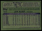 1982 Topps #463  Jim Kern  Back Thumbnail