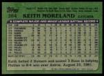 1982 Topps #384  Keith Moreland  Back Thumbnail