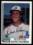 1982 Topps #292  Dave Palmer  Front Thumbnail