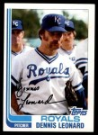 1982 Topps #495  Dennis Leonard  Front Thumbnail