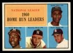 1961 Topps #43   -  Hank Aaron / Ernie Banks / Ken Boyer / Eddie Mathews NL HR Leaders Front Thumbnail