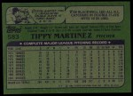 1982 Topps #583  Tippy Martinez  Back Thumbnail