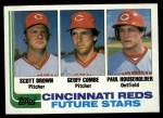 1982 Topps #351   -  Scott Brown / Paul Householder / Geoff Combe Reds Rookies   Front Thumbnail