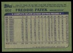 1982 Topps #602  Fred Patek  Back Thumbnail