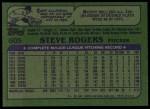 1982 Topps #605  Steve Rogers  Back Thumbnail
