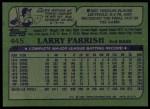 1982 Topps #445  Larry Parrish  Back Thumbnail