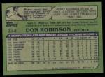 1982 Topps #332  Don Robinson  Back Thumbnail