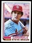 1982 Topps #316  Steve Braun  Front Thumbnail