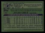 1982 Topps #130  Julio Cruz  Back Thumbnail