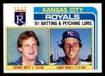 1982 Topps #96   -  George Brett / Larry Gura Royals Leaders Front Thumbnail