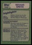 1982 Topps #546   -  Reggie Smith In Action Back Thumbnail