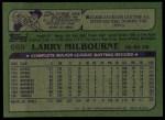 1982 Topps #669  Larry Milbourne  Back Thumbnail