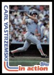 1982 Topps #651   -  Carl Yastrzemski In Action Front Thumbnail