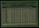 1982 Topps #32  Gene Garber  Back Thumbnail
