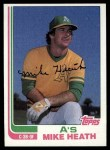 1982 Topps #318  Mike Heath  Front Thumbnail