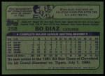 1982 Topps #258  Bo Diaz  Back Thumbnail