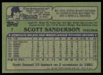 1982 Topps #7  Scott Sanderson  Back Thumbnail