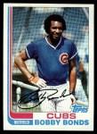 1982 Topps #580  Bobby Bonds  Front Thumbnail