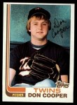 1982 Topps #409  Don Cooper  Front Thumbnail