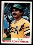 1982 Topps #60  Tony Armas  Front Thumbnail