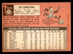 1969 Topps #59  Jay Johnstone  Back Thumbnail