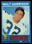 1971 Topps #8  Walt Garrison  Front Thumbnail