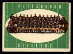 1961 Topps #112   Steelers Team Front Thumbnail