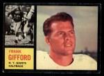 1962 Topps #104  Frank Gifford  Front Thumbnail