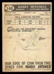 1959 Topps #140  Bobby Mitchell  Back Thumbnail