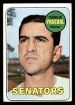 1969 Topps #513  Camilo Pascual  Front Thumbnail