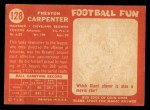 1958 Topps #128  Preston Carpenter  Back Thumbnail