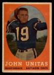 1958 Topps #22  Johnny Unitas  Front Thumbnail