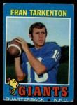 1971 Topps #120  Fran Tarkenton  Front Thumbnail
