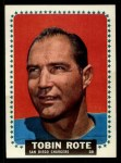 1964 Topps #171  Tobin Rote  Front Thumbnail