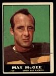 1961 Topps #42  Max McGee  Front Thumbnail