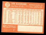 1964 Topps #327  Don Blasingame  Back Thumbnail