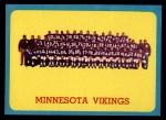 1963 Topps #109   Vikings Team Front Thumbnail