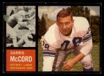 1962 Topps #57  Darris McCord  Front Thumbnail