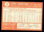 1964 Topps #24  Carl Sawatski  Back Thumbnail
