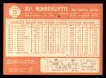 1964 Topps #25  Bill Monbouquette  Back Thumbnail