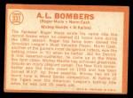 1964 Topps #331   -  Roger Maris / Norm Cash / Mickey Mantle / Al Kaline AL Bombers Back Thumbnail