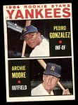 1964 Topps #581   -  Pedro Gonzalez / Archie Moore Yankees Rookies Front Thumbnail