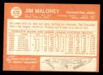 1964 Topps #420  Jim Maloney  Back Thumbnail