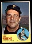 1963 Topps #450  Bob Friend  Front Thumbnail