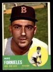 1963 Topps #28 xSTR Mike Fornieles  Front Thumbnail