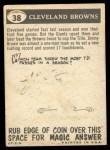 1959 Topps #38   Browns Team Checklist Back Thumbnail