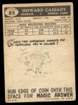 1959 Topps #85  Howard Cassady  Back Thumbnail