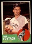 1963 Topps #327  Paul Foytack  Front Thumbnail