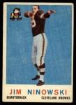 1959 Topps #125  Jim Ninowski  Front Thumbnail